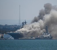 Video: Explosion, fire aboard San Diego-based naval ship
