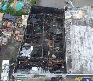 This photo from 2016 shows the burned Ghost Ship warehouse where 36 people were killed in a blaze on Dec. 6, 2016. A city audit has found that the Oakland Fire Department has failed to complete required building inspections in the years since the deadly fire.
