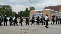 17 Chicago cops injured after clash with demonstrators