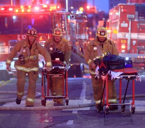 On May 16, 2020, a dozen Los Angeles Fire Department firefightersnarrowly escaped with their lives when a massive explosion tore through a building in downtown L.A.