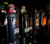 Portland rioters target police union HQ, 25 arrested