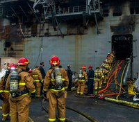Arson suspected in San Diego Navy ship fire