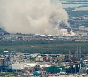 The fire at a chlorine plant that broke out in the aftermath of Hurricane Laura was extinguished after three days, officials said. (AP Photo/David J. Phillip)