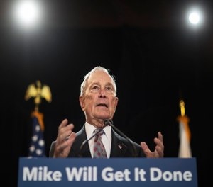 The former presidential candidate has also pledged to spend $100 million in Florida to boost Joe Biden there. (AP Photo/David Goldman)