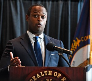 Kentucky Attorney General Daniel Cameron addresses the media following the return of a grand jury investigation into the death of Breonna Taylor, in Frankfort, Ky., Wednesday, Sept. 23, 2020.