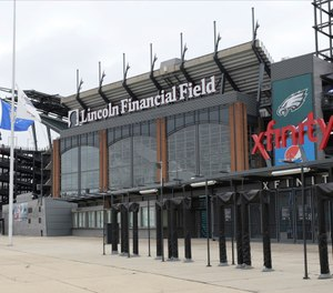 Lawyers for Melissa Nocero, the widow of Joseph Nocero, who died after suffering a medical emergency in the stands at Lincoln Financial Field in 2019, have sued the company that provided EMS staffing at the stadium, alleging that medical attention arrived too late. (AP Photo/Laurence Kesterson)