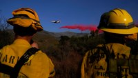 'Heads up and clear out': Firefighter safety around air drops