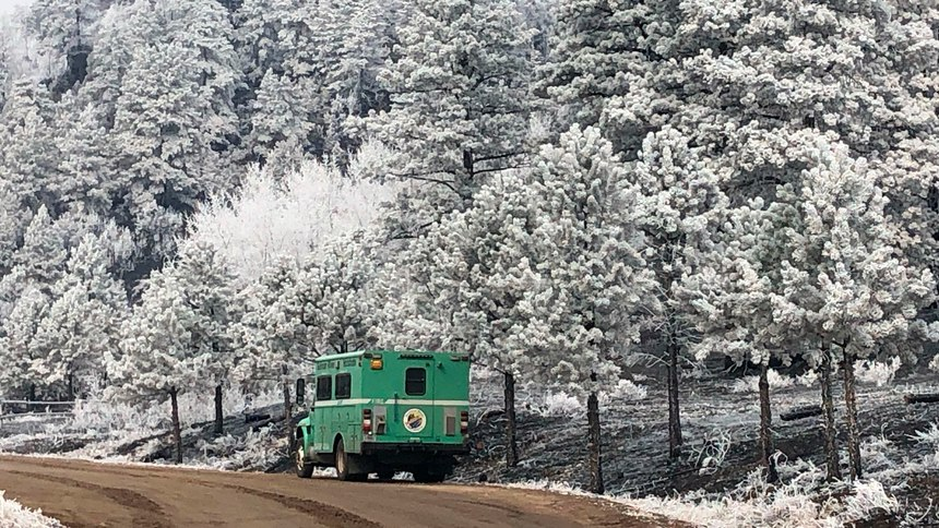 Just days after the East Troublesome Fire meteoric spread, the area was blanketed with snow.