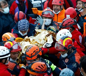 Rescue workers performed the delicate task of extricating the girl, Elif, from the rubble of an apartment building in the Turkish coastal city ofIzmir, disaster management agency AFAD said