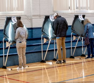 Voters cast their votes at the Slater Center in Bristol, Tenn.