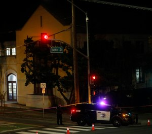 Two people died and multiple others were injured in a stabbing at a church in California, Sunday, Nov. 22, 2020, where homeless people had been brought to shelter from the cold weather, police said.