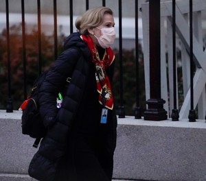 Dr. Deborah Birx, White House coronavirus response coordinator, leaves the White House Tuesday, Dec. 1, 2020. The CDC is planning to shorten COVID-19 quarantine to 10 days, or 7 with a negative test result, according to a senior official.