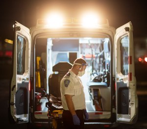 Data from EMS data and software company ESO shows that EMS providers spent an average of 15 minutes with each confirmed COVID-19 patient in the back of an ambulance.