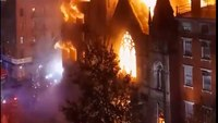 4 FDNY firefighters injured battling blaze at historic church home to New York's Liberty Bell