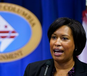In this Wednesday, Nov. 4, 2020, file photo, District of Columbia Mayor Muriel Bowser speaks during a news conference in Washington.