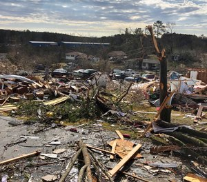 A tornado that swept through Alabama on Jan. 26, 2021 destroyed several homes, left one person dead and injured dozens more. First responders recount calling in a team of surgeons to amputate one tornado victim's leg after he became trapped in his house by a fallen tree.