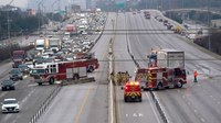 Traffic incident management in 130-vehicle pileup