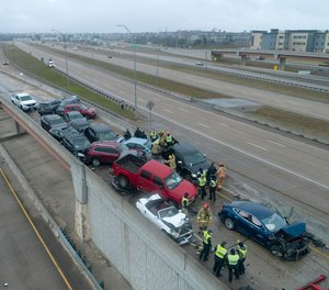 JPS Hospital EMT Jesse Robinson recounted aiding victims in the 133-vehicle pileup in Fort Worth, Texas last week despite being injured in the crash himself.