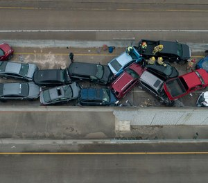 Six people were killed and dozens were injured in a pileup crash involving 133 vehicles near Fort Worth, Texas on Thursday.