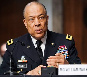 Army Maj. Gen. William Walker, Commanding General of the District of Columbia National Guard, speaks during a joint hearing Wednesday, March 3, 2021, examining the January 6, attack on the U.S. Capitol.