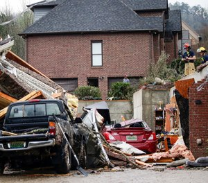 Severe storms in Central Alabama killed five people and left several injured, including first responders, on Thursday. Dozens of homes were damaged or destroyed.