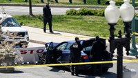 Capitol Police officer, suspect killed after car rams into barricade