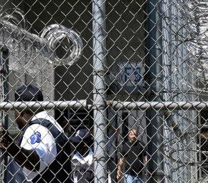 Prison staff work at Lee Correctional Institution in Bishopville, S.C.