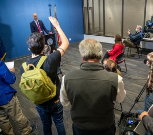Marion County Prosecutor Ryan Mears speaks during a news conference in Indianapolis on Monday, April 19, 2021.