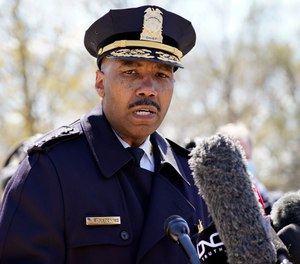 In this April 2, 2021, file photo, Washington Metropolitan Police Department chief Robert Contee speaks during a news conference in Washington.
