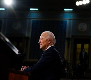President Joe Biden addresses a joint session of Congress, Wednesday, April 28, 2021, in the House Chamber at the U.S. Capitol in Washington.