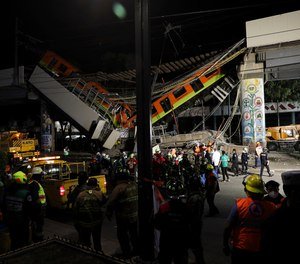 A train overpass collapsed in Mexico City Monday night, killing at least 23 people and injuring at least 65.