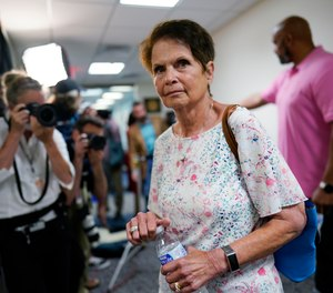 Gladys Sicknick, mother of the late Capitol Police officer Brian Sicknick, arrives at the office of Sen. Ron Johnson, R-Wisc., at the Capitol in Washington, Thursday, May 27, 2021.
