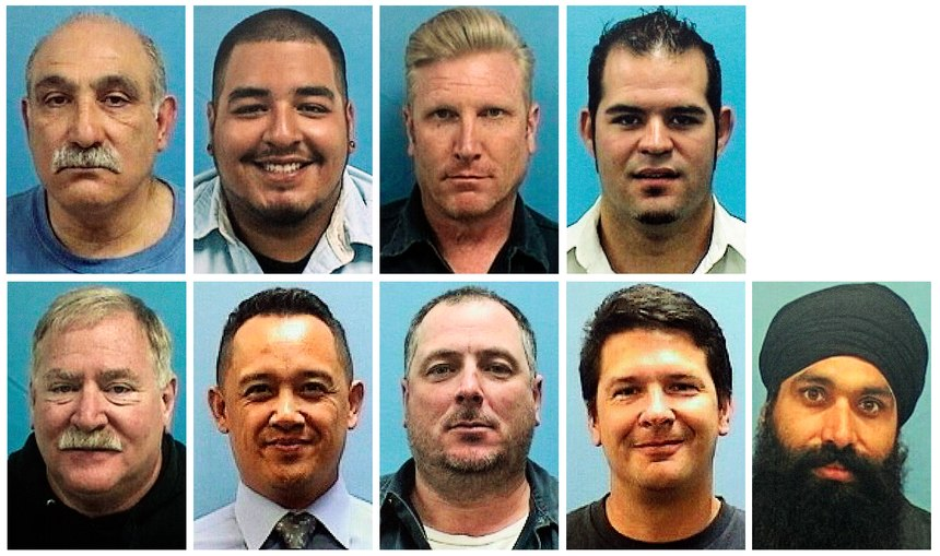 This combo of imagesshows the nine victims of a shooting at a VTA rail yard on Wednesday, May 26, 2021, in San Jose, Calif. Top row, from left, Abdolvahab Alaghmandan, Adrian Balleza, Alex Fritch, Jesus Hernandez III. Bottom row, from left, Lars Lane, Paul Megia, Timothy Romo, Michael Rudometkin and Taptejdeep Singh.