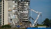 Safety concerns halt rescue efforts at condo collapse site