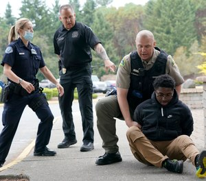 Officers participate intraining at the Washington state Criminal Justice Training Commission. Washington state is embarking on a massive experiment in police reform and accountabilitywith nearly a dozen new laws that took effect Sunday, July 25 but law enforcement officials remain uncertain about what they require in how officers might respond – or not respond – to certain situations, including active crime scenes and mental health crises.