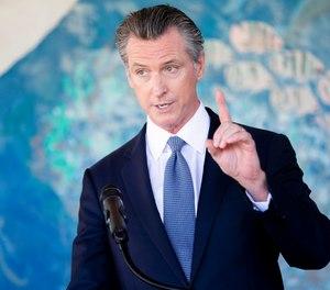 California Gov. Gavin Newsom speaks during a news conference at Carl B. Munck Elementary School, Wednesday, Aug. 11, 2021, in Oakland, Calif.