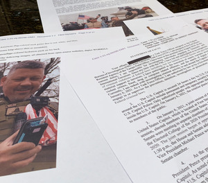 This photo shows part of the Justice Department's statement of facts in the complaint and arrest warrant for Christopher Worrell.