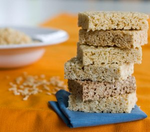 This image taken on Sept. 10, 2012 shows different styles of Rice Krispies Treats.
