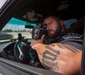 Austin PD Officer Jason Borne on patrol.