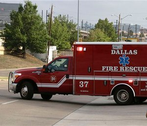 A Dallas Fire-Rescue ambulance. (2014 File Photo/The Associated Press)