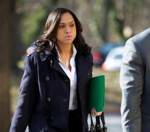 In this March 3, 2016, file photo, Baltimore State's Attorney Marilyn Mosby arrives at Maryland Court of Appeals in Annapolis, Md.