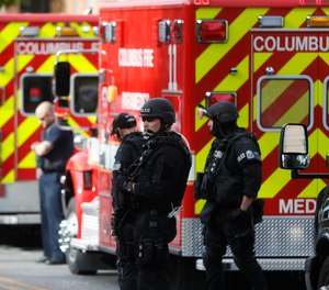 """Active shooter incidents in EMS have """"averages of four – four dead and four injured."""" But there is significant range in the number of patients who need EMS transport. (Photo/AP)"""