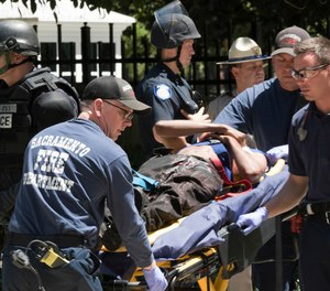 What are the underlying reasons paramedics feel that the option for lethal force is needed on every EMS call? (AP Photo/Steven Styles, File)