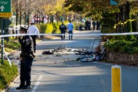 NY gov: Truck attack suspect was radicalized in US