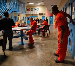 Inmates inside the veteran's pod at the Albany County Correctional Facility, Monday, Nov. 27, 2017, in Albany, N.Y.