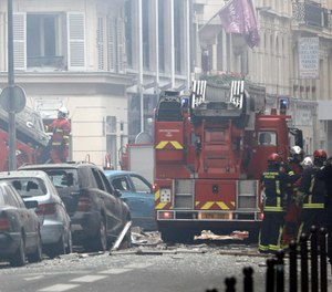 Firefighters work at the scene of a gas leak explosion in Paris, France, Saturday, Jan. 12, 2019. Paris police say several people have been injured in an explosion and fire at a bakery believed caused by a gas leak. (Photo/AP)
