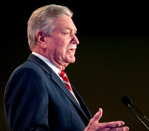 IAFF President Harold Schaitberger has been accused of financial misconduct, including improperly withdrawing $1 million from union pension coffers and using union funds for personal expenses. (AP Photo/Andrew Harnik)