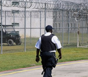 Prison staff work at Lee Correctional Institution on Wednesday, April 10, 2019, in Bishopville, S.C.