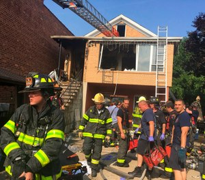 Current research shows that heat stress puts an extraordinary burden on a firefighter's cardiovascular system, with the worst outcome being a sudden cardiac event (SCE) like a stroke or heart attack. (FDNY via AP)