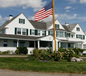 Photo shows the main home in the Kennedy family compound in Hyannis Port, Mass. Robert F. Kennedy's granddaughter, Saoirse Kennedy Hill, has died at the age of 22. (Photo/AP, Stew Milne)